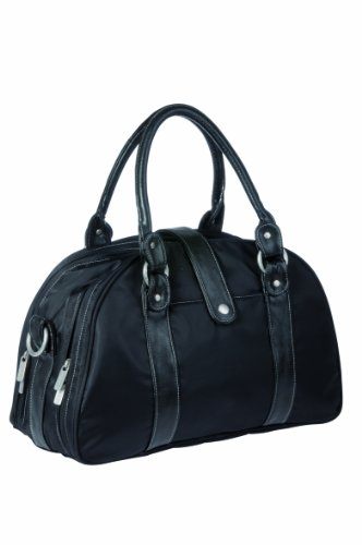 LÄSSIG Baby Wickeltasche Babytasche Stylische Tasche inkl. Wickelzubehör/Glam Shoulder Bag black