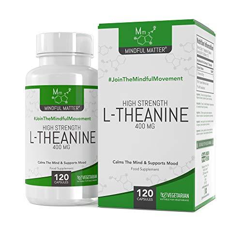 Integratore L-teanina (400 mg) | PER CHIAREZZA E CONCENTRAZIONE | Promuove rilassamento e chiarezza mentale | Mindful Matter | 120 capsule vegane | Senza glutine, senza lattosio | 4 mesi di fornitura