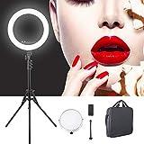 Anillo de luz, LED ajustable Live Selfie Streaming Light Light Fotografía de estudio Selfie Fill Light Set Set de 12 pulgadas Trabaja con teléfono inteligente y cámara SLR(UE)