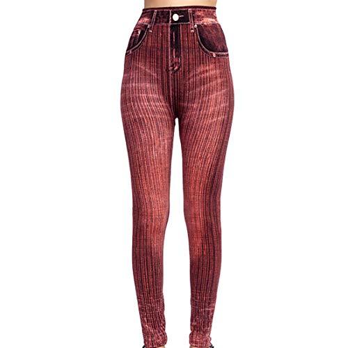 Pantalones vaqueros celestes ajustados para mujer Pantalones de cintura alta Leggings para mujer Jeggings de mezclilla elásticos vaqueros elásticos de cintura alta con bolsillos Pantalones de jean