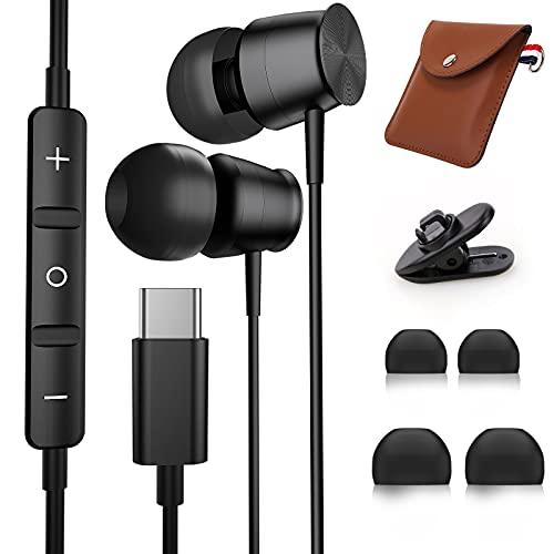Tipo C Auricolari TUBhanggai USB C Cuffie In Ear Cuffie USB C Auricolari cablati con microfono e controllo del volume per Huawei P40 P30 Pixel 5 4 3 Samsung S21 Ultra S20 FE Plus Note 20 OnePlus 9 Pro
