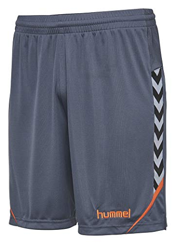 hummel Kinder AUTH. Charge Poly Shorts, Ombre Blue/Nasturtium, 164-176
