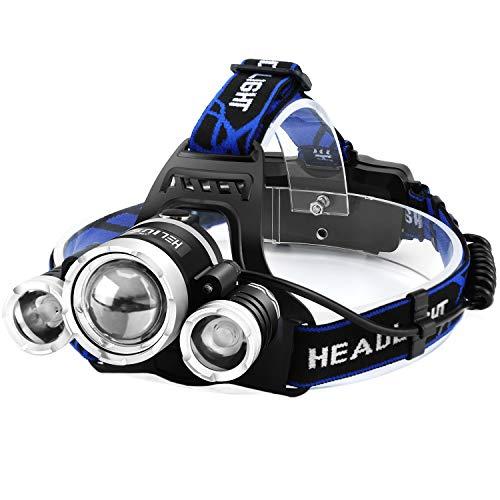 Helius LEDヘッドライト usb充電式 6000ルーメン センサー 電気出力 電量ディスプレイ可能 4モード