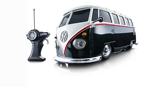 Maisto Tech R/C VW Bus Samba: Ferngesteuertes Auto VW T1, mit Pistolengriff-Steuerung und Hinterradantrieb, Maßstab 1:24, schwarz-weiß (581144-1)*
