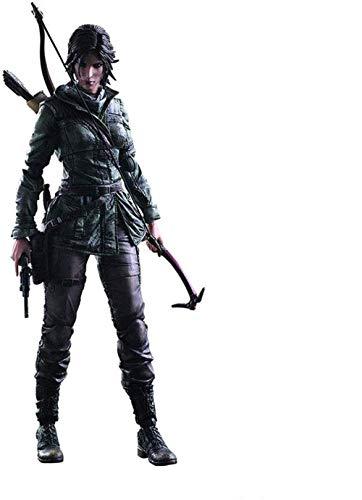 brandless Modelo de Anime LULUDP Anime Rise of The Sculpture Tomb Raider Lara Croft Play Arts Kai PVC Figura de acción Figura - Alto 10.23 Pulgadas