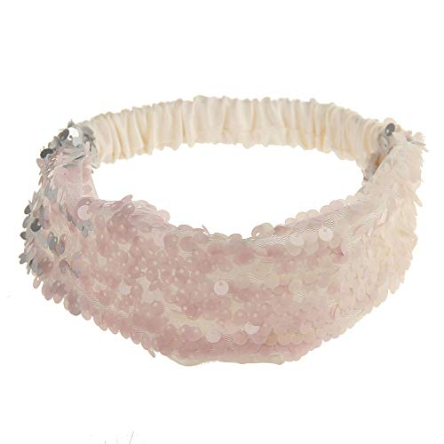 Dorical Haarband, Damen Bling Shining Haarband mit Pailletten Elastic Sports Yoga Stirnband Haarband Kopfbedeckung für Frauen Lady Mädchen Kopfschmuck, Stirnband, Pailletten, elastisch(J)