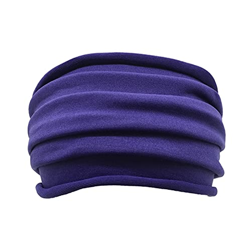 PPLAX Yoga Stirnband 1 stück massiv Farbe Faltbare Yoga Stirnband Nonslip elastische streckhaarband Turban laufende Headwrap breite sportaccessoires (Color : 03)