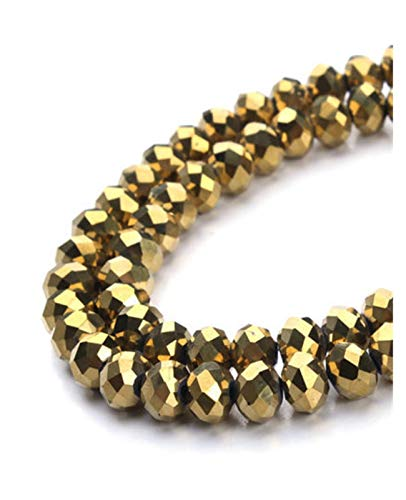 DIOXQEN Producción de Bricolaje 4 * 3mm Crystal Beads Czech Faceted Jewelry Hallazgos Spacer Pendientes Brazalete Pulsera Lariat Collar Accesorios para joyería, Artes y Manualidades