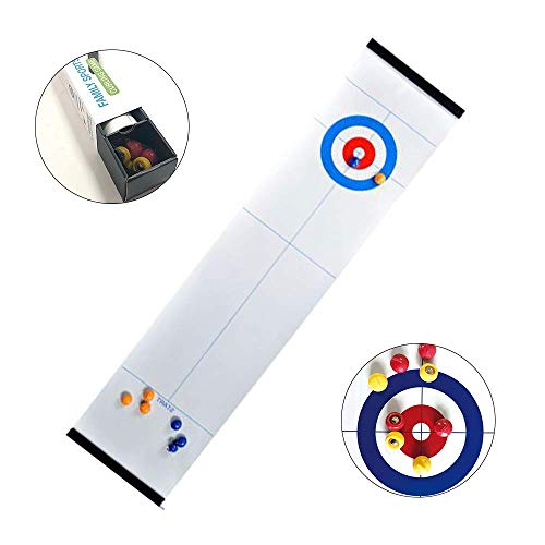 Portable Mini Curling Table Top Board Games Met 8 Rollers Great, Tafels Game Mats Voor Family Fun