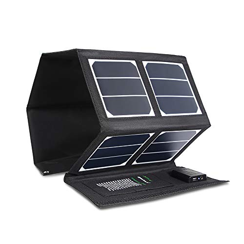 Solar Charger 40W Portable Solar Panel Charger with 5V USB 18V DC Dual Output Waterproof Foldable Camping Travel Charger for Laptop Tablet GPS iPhone iPad Camera Other 5-18V Device