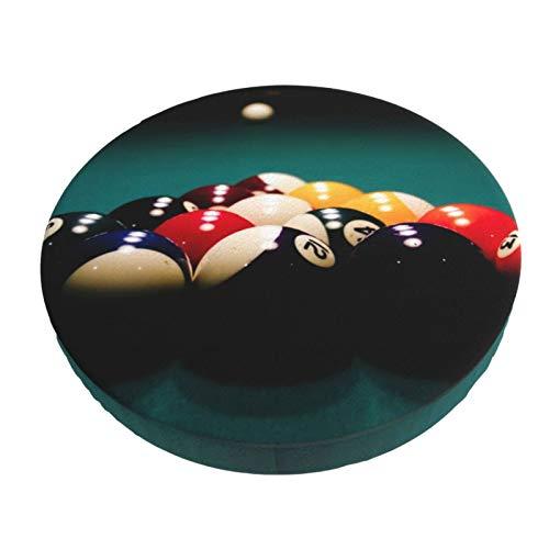 Grafffery Best Billiard Ball Sport Round Bar Chair Cushion Cover Non-Slip Soft Stool Seat Slipcover for Home,Bar,Office,Dining - 14 Inch