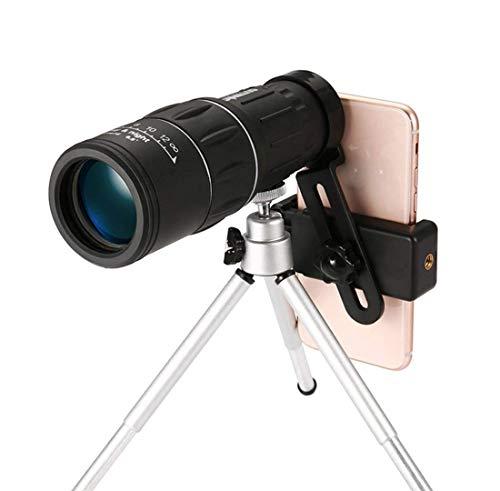 HXZB 16X52 monoculaire téléphone Mobile Photo Clip Haute définition Mini-Basse lumière Vision Nocturne Enfants à la Recherche de Lunettes Outdoor-Noir