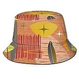 Meiya-Design Mid Century Modern Graphic Lachs Unisex Fashion Print Bucket Hat Sommer Fisherman Cap Packable Outdoor Sonnenhut – Wandern, Strand, Sport