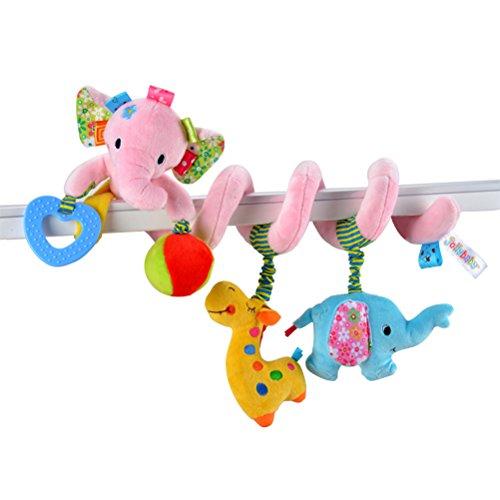 TOYMYTOY Elefante Bebé Cuna Juguete Envoltorio Alrededor de la Cuna Juguete Cochecito de Juguete Lindo Bebé Educativo Juguetes de Peluche