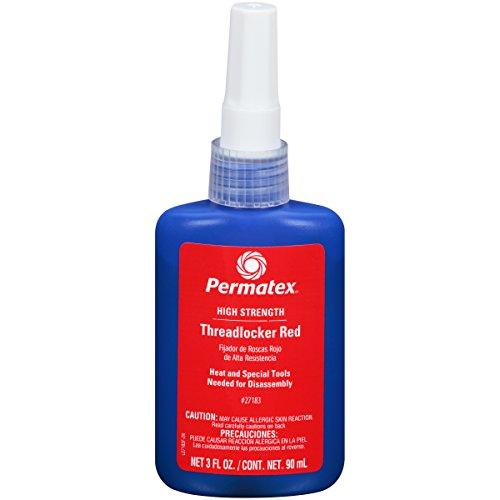 Permatex 27183 High Strength Threadlocker Red, 90 ml