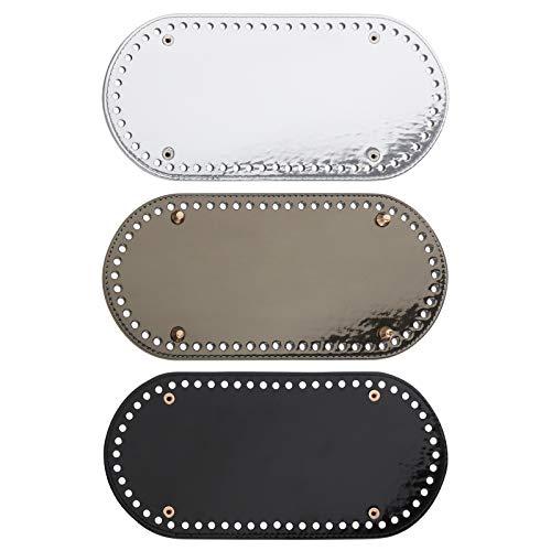IPOTCH Taschenboden Kunstleder, 3er Set PU Ledertasche Bodenformer zur Taschenherstellung Boden, Base Shaper Einlegeboden für Schultertasche Handtasche Tasche Pad