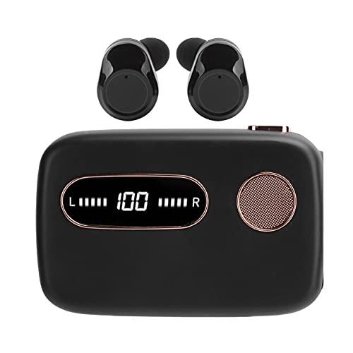 Tws Auriculares Bluetooth, 5.0 Auriculares deportivos intrauditivos con reducción de ruido y batería externa, Ipx7 resistente al agua, batería de larga duración, control deslizante de levitación magné