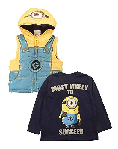 Disney Little Boys' Toddler 2-Piece Minions, Yellow, 5T