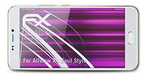 atFolix Glasfolie kompatibel mit Allview X4 Soul Style Panzerfolie, 9H Hybrid-Glass FX Schutzpanzer Folie
