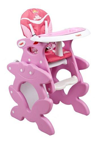 Chaise haute de bébé pour enfants ARTI Betty J-D008 Pink Ala Chaise haute Set - chaise et une table