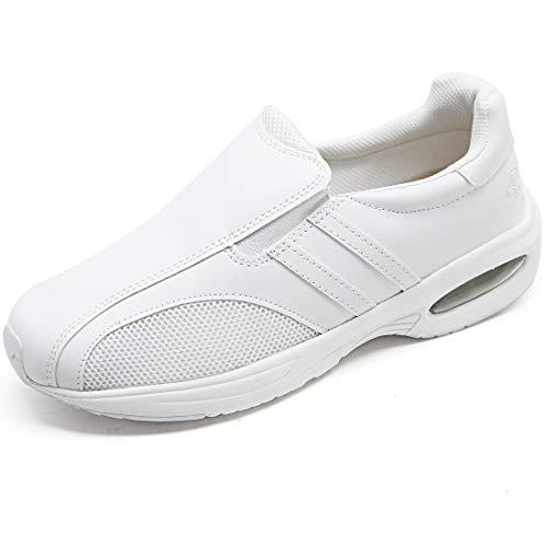[アシスタント] ナースシューズ レディース スニーカー サンダル 靴 看護師 介護 メディカル 医療 (ホワイト, 25.5 cm)