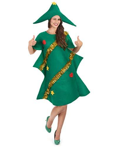 Generique - Disfraz de árbol de Navidad Adulto - M