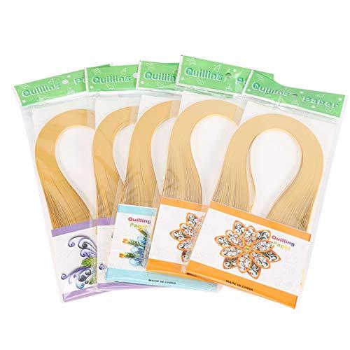 600 rayas DIY Quilling Paper 3 mm de ancho Color puro Origami Paper Hand Craft Decoration(piel)