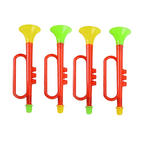 Best Prices! NUOBESTY 4 pcs Kids Trumpet Noise Maker Trumpet Horn Toys Trumpet Toy for Birthday New ...