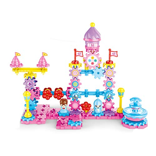 Great Features Of LAL6 Gear Building Block Castle Model Mechanical Kids DIY Spell Inserted Puzzle Bu...