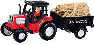 Tractor with Trolley Pull Back Toy Openable Trolley Lock (Colour May Vary)