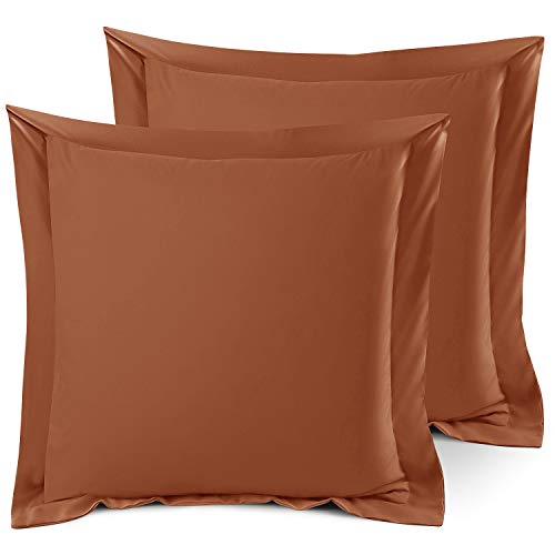 Nestl Bedding Soft Pillow Shams Set of 2 - Double Brushed Microfiber Hypoallergenic Pillow Covers - Hotel Style Premium Bed Pillow Cases, Euro 26