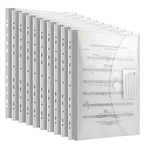Dokumententasche A4, dreidimensionale A4 Dokumentenmappe Sammelmappen 30 Pack für Dokumente Organisieren mit Binderlöcher/Klettverschluss und Etikettentasche wasserdicht jede bis zu 300 Papiere
