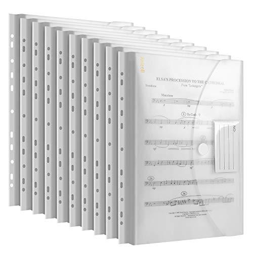 Dokumententasche A4 20 pack- dreidimensionale A4 Dokumentenmappe Sammelmappen für Dokumente Organisieren mit Binderlöcher/Klettverschluss und Etikettentasche wasserdicht jede bis zu 300 Papiere