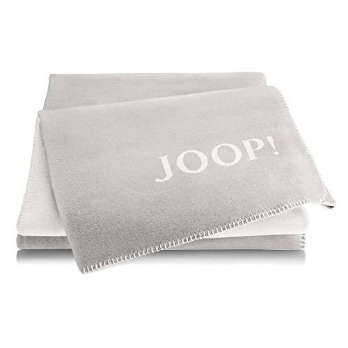 Joop! Plaid Uni-Doubleface | Rauch-Ecru - 150 x 200 cm