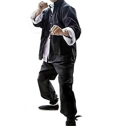 CHIYA-TAICHI 3er-Set Bruce Lee Kung Fu Uniform Tai Chi Chinesische Kleidung, Kampfsportanzug, Baumwolle LangarmM