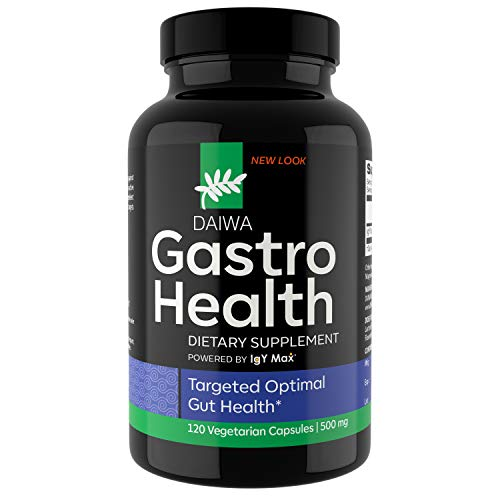 Daiwa Gastro Health – Natural Digestion Aid Supplements for Digestive & Immune Support – Powered by IgY Max - Digestion Supplement for Gut Health Support, 120 Count
