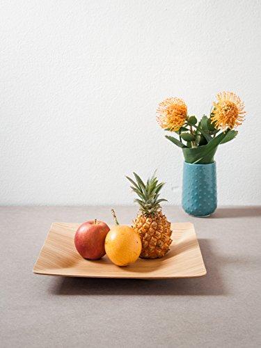 WOOD U? Obstschale und Dekorationsschale aus Holz, eckig (Eiche)