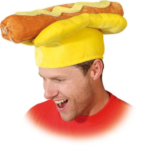 Orlob Hut Hotdog zum lustigen Kostüm an Karneval Fasching Party