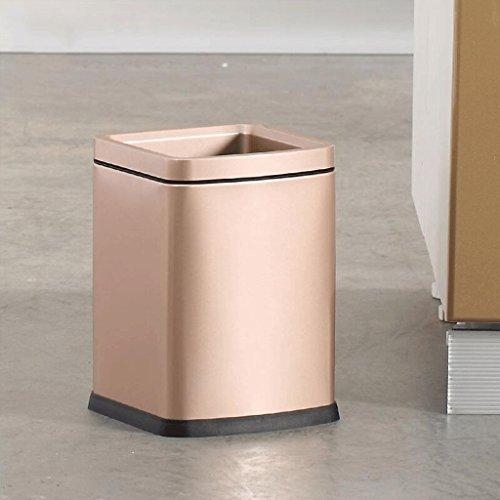 Cubo de basura de acero inoxidable Cocina casera Baño creativo Cubo de basura Dormitorio ( Color : Oro )