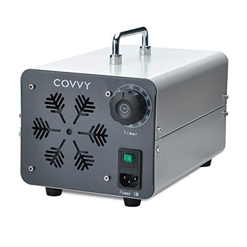 COVVY Generador de ozono comercial, máquina móvil industrial del ozono O3 purificador de aire ambientador esterilizador para la eliminación de olores, para casa, oficina, hotel, coche