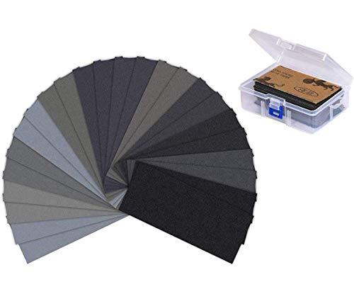 Humide et sèche ou en verre de papier de verre mélangé Sheet Set ponçage assortiment Grits grossier