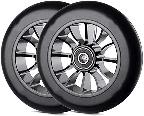 Wheels Ruedas De Reemplazo De 110 Mm, Ruedas De Reemplazo De Scooter, Ruedas De Scooter Pro Stunt 110 Mm De Ruedas De Reemplazo con ABEC-9Bearing-2 PCS(Color:Negro)