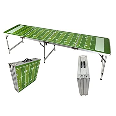 NEW 8' BEER PONG TABLE ALUMINUM PORTABLE ADJUSTABLE FOLDING INDOOR OUTDOOR TAILGATE PARTY GAME #2
