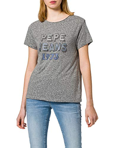 Pepe Jeans Bibiana Camiseta, 933grey Marl, XS para Mujer