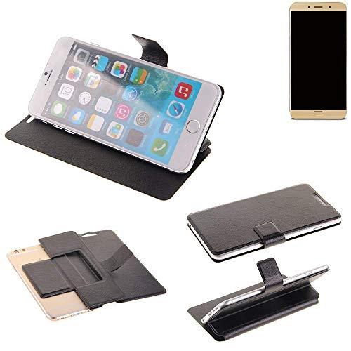 K-S-Trade® Schutz Hülle Für Allview X4 Soul Lite Schutzhülle Flip Cover Handy Wallet Case Slim Handyhülle Bookstyle Schwarz