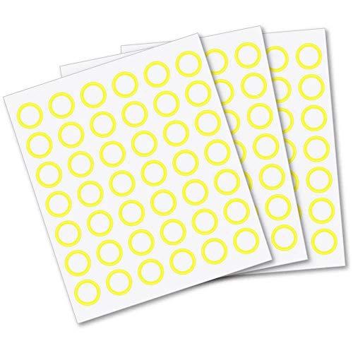 Sticker-Set gelb für Anybook Audiostift (Franklin DRP5100 mit Anybook-Case Software) 2160 Aufkleber Codes