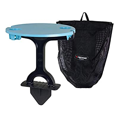 Footstake Portable Outdoor Camping Table with Cupholders (Topical Blue)