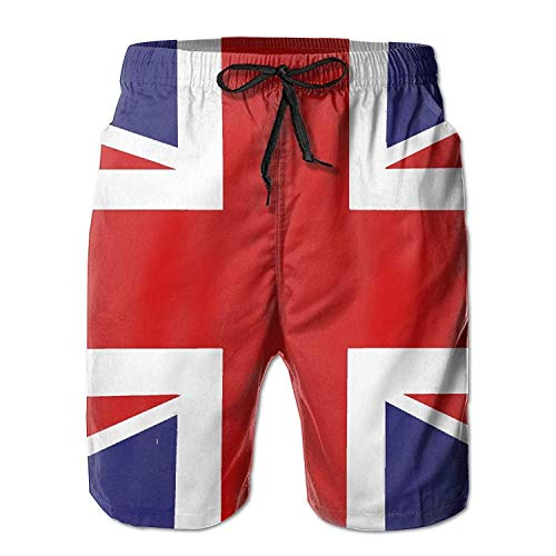 Britse vlag Quick Dry Elastische Kant horts Beach Shorts Broek Zwembroek Trunks Gepersonaliseerde Man Badpak met Zakken
