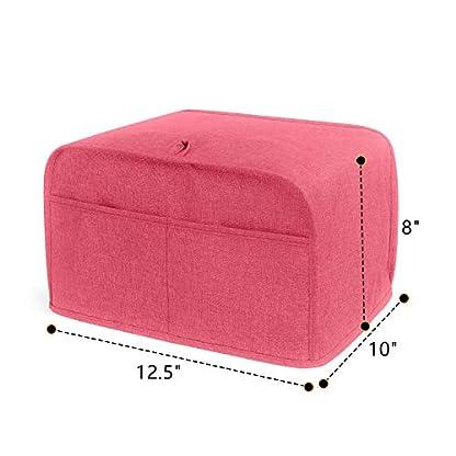 LUXJA-Toaster-Abdeckung-Toaster-Abdeckung-mit-2-Taschen-4-Slice-125-x-10-x-8-inches-rot
