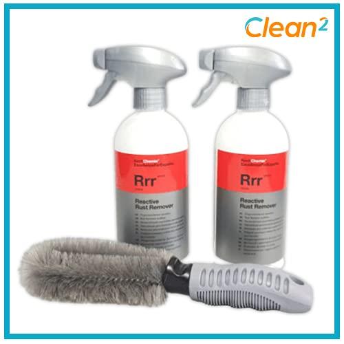 Koch Chemie Reactive Rust Remover RRRR 2 x 500 ml limpiador de llantas + cepillo para llantas